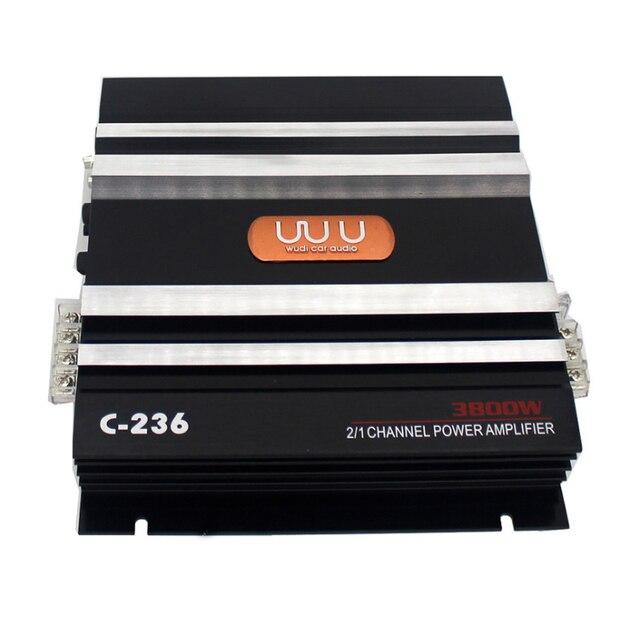 Best Offers Car Audio Power Amplifier 12V 3800 Watt 2 Channel Aluminum Alloy Auto Speaker Amplifiers