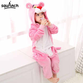 Pink Animal Kigurumi Panther Onesie Kids Child Sleepwear Funny Jumpsuit Winter Warm Pajama Cute Overalls Carnival Party Outfit - DISCOUNT ITEM  25% OFF All Category