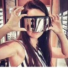 Sunscreen Anti-peeping Sunglasses Oversized Mask Shape Shiel