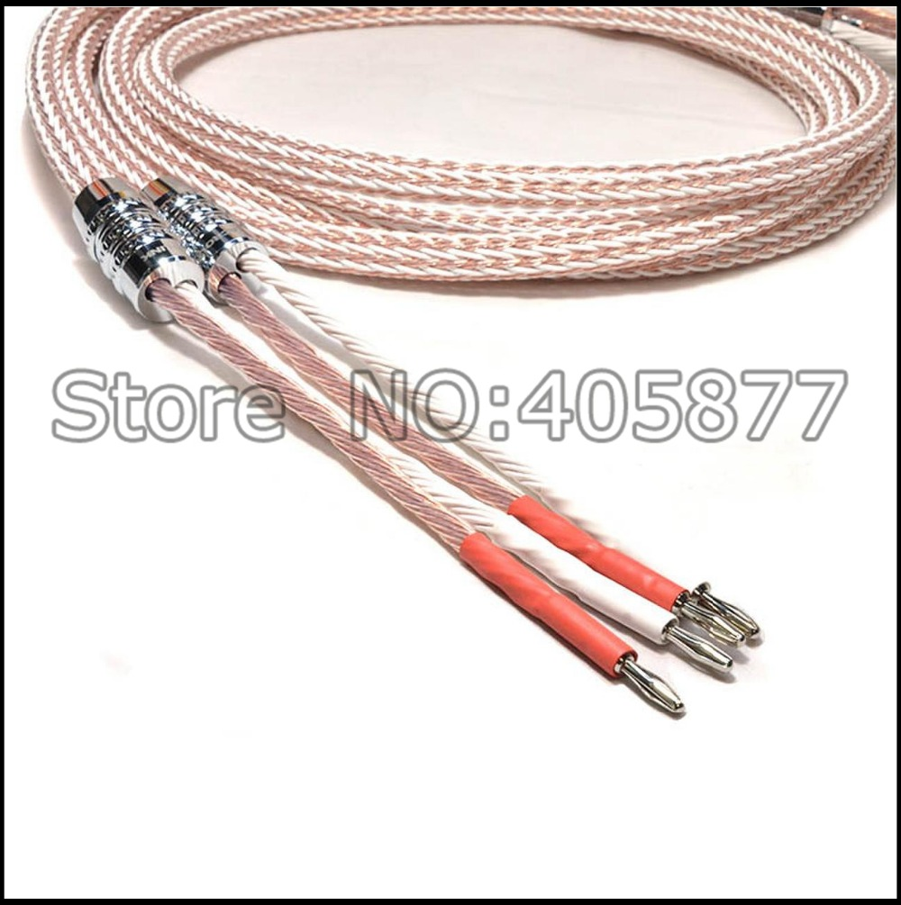 Hifi audio 8TC Speaker Cable audiophile speaker cable with banana ...