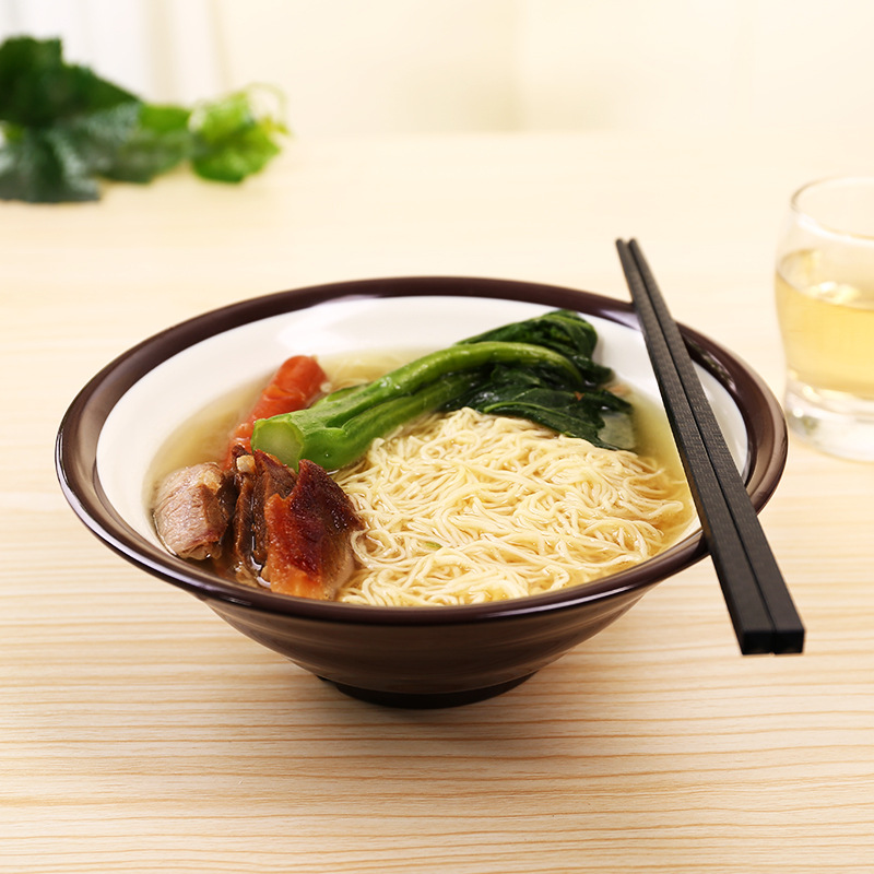 Double lubricious bowl Instant noodles bowl Japanese tableware Melamine Hand-Pulled soup Bowl SS002