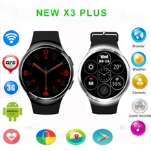 2016 neue x3 plus smart watch telefon android 5.1 mtk6580 Quad Core 1 GB + 8 GB Herzfrequenz Smartwatch Uhr mit WIFI GPS schrittzähler