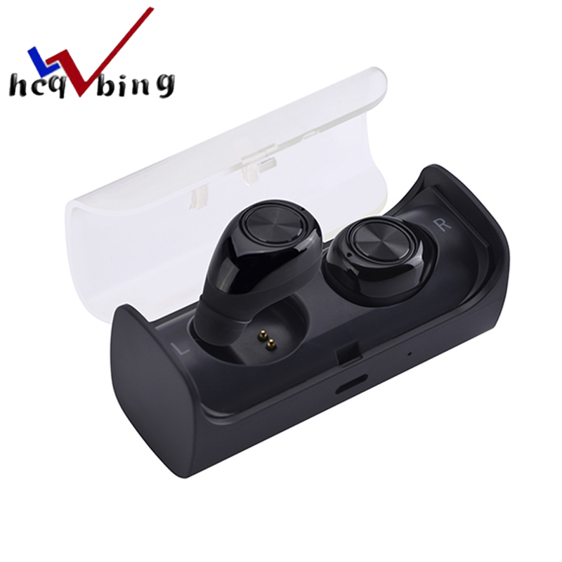 HCQWBING TWS10 Original mini wireless Bluetooth Earphone Earbuds True Stereo headset with Charging Socket play music for iphone dacom bluetooth earphone mini wireless stereo headset tws ture wireless earbuds charging box for iphone xiaomi android phone
