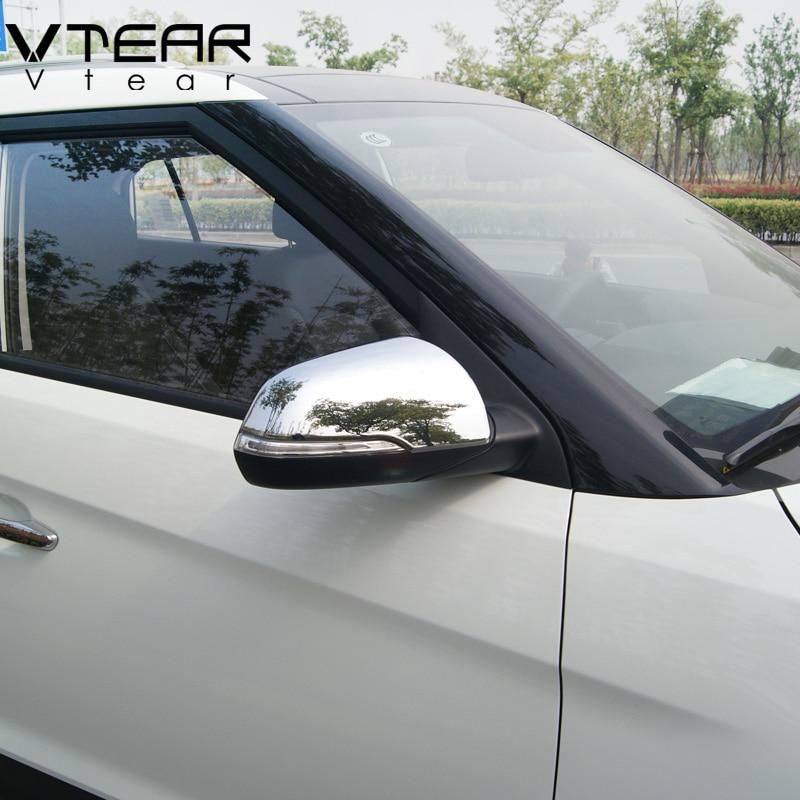 Vtear accessories for hyundai creta ix25 Rearview mirror covers decoration Refit Chromium Styling chrome Exterior products 2016 коврики в салонные ниши синие ix25 для hyundai creta 2016