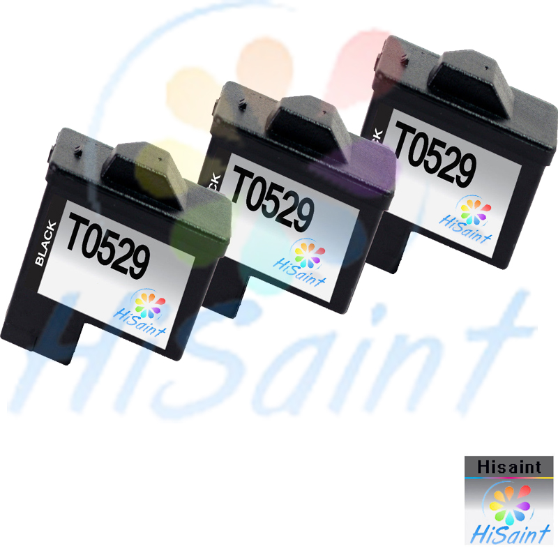 ФОТО Free shipping 2016 New [Hisaint]3-Pk T0529 Black Ink Cartridges for Dell Series All-In-One Printers  New listing