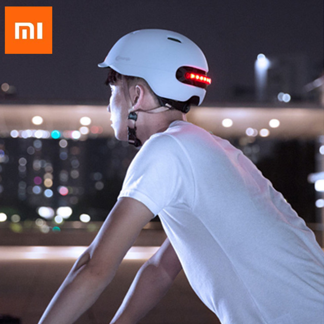 New Xiaomi Smart Flash Helmets Automatic brake warning IPX4 waterproof protecting you for riding Scooter Bicycle