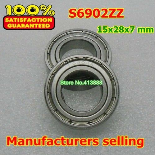 Высокое качество нержавеющая сталь подшипника SS6902ZZ S6902-2Z 6902 S6902 Z ZZ S6902Z S6902ZZ S61902 15*28*7 мм 440C материал