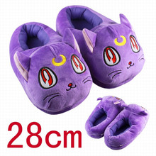 Anime Sailor Moon Luna Cat Plush Slippers Warm Winter Adult Slippers Gift For GirlFriend 11 28cm
