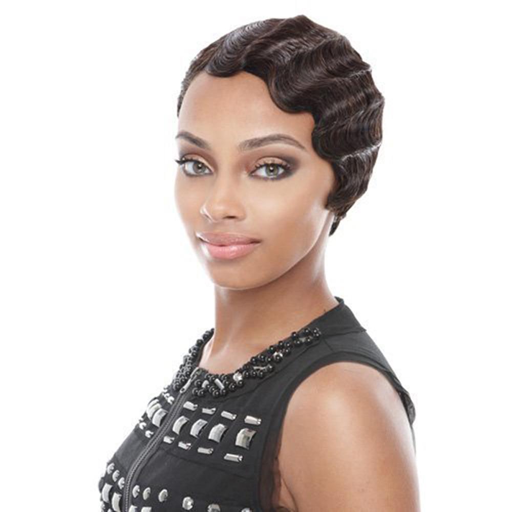 moda africana mujeres pelo rizado corto marrn negro frente peinado rizado pelucas de pelo sinttico brown