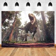 Jurassic Century Dinosaur Backdrop Birthday Party Background Photography Jungle Safari Photo Props Studio