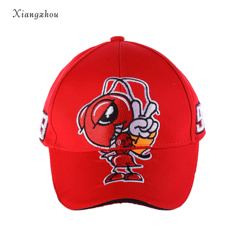 xiangzhou 2018 Fashion Caps Cosplay Cartoon Big Ant Embroidery Marc Marquez Motorcycle Hat Sports Baseball Cap Men and Women fashion sports baseball cap men