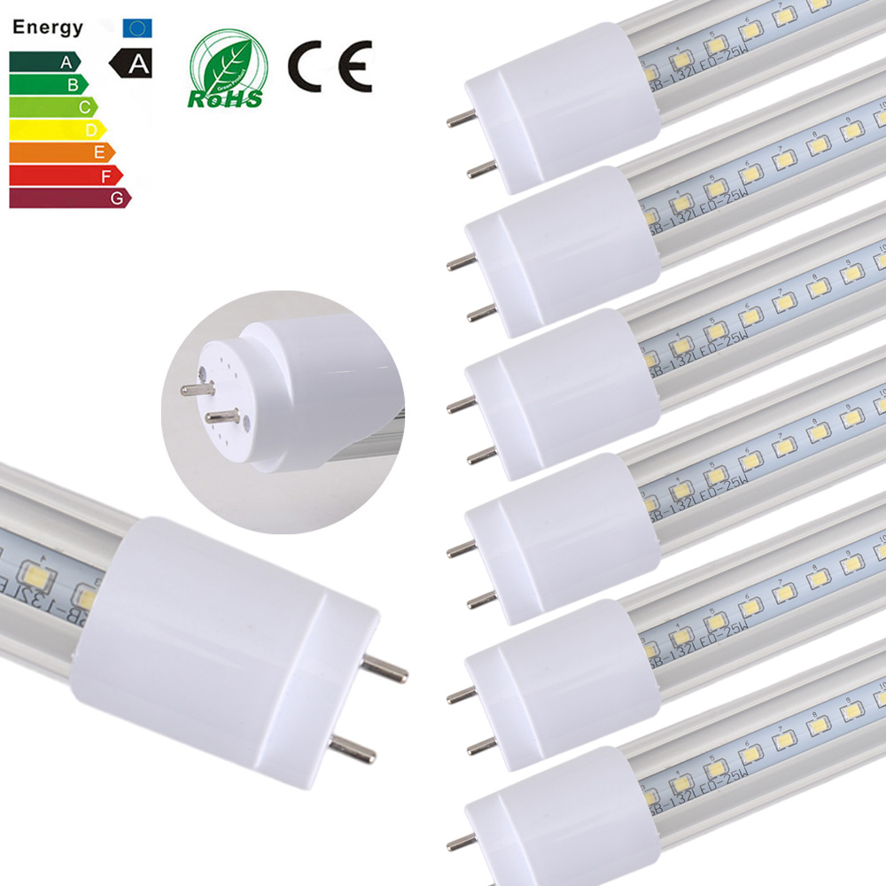 25PCS/LOT 25W LED Tubes SMD 2835 1200mm 132led Light Lamp Bulb AC85-265V Led Lighting G13 2800LM LED Tubes Strip For Plant Grow free shipping 12pcs lot ip65 120cm 4ft double led tubes lighting fixture 2 18w 1 2m 1200mm waterproof tubes g13 base tube lamp