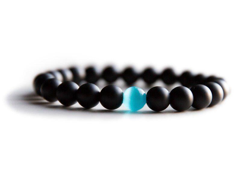Water Drop Bracelet - Semi-Precious Natural Stones (8mm) - Handmade Genuine Quality Onyx Bracelet 2