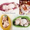 2016 nuevo hecho a mano del bebé accesorios de Fotografía manta de bebé saco de dormir del bebé recién nacido de Punto de Ganchillo foto aaccessories
