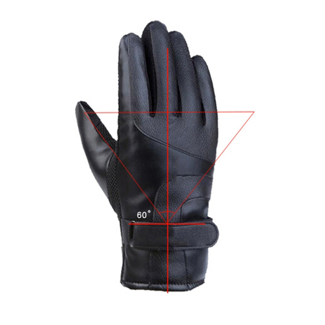 Winter Heated Gloves Warmer Electric Thermal Gloves Cycling Motorcycle Bicycle Skiing Gloves Unisex ON/OFF Switch With LED 2