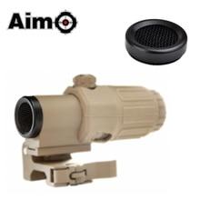 AIM-O Killflash/Uccidi Flash Per Airsoft G33 3X Lente di Ingrandimento con Interruttore per Lato STS Staccabile Rapido/QD Mount AO5355 Ottiche da caccia