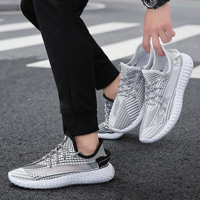 zapatillas hombre Mens Leisure Breathable Hollow Out Mesh Surface Sports Sneakers Shoes zapatos de hombre