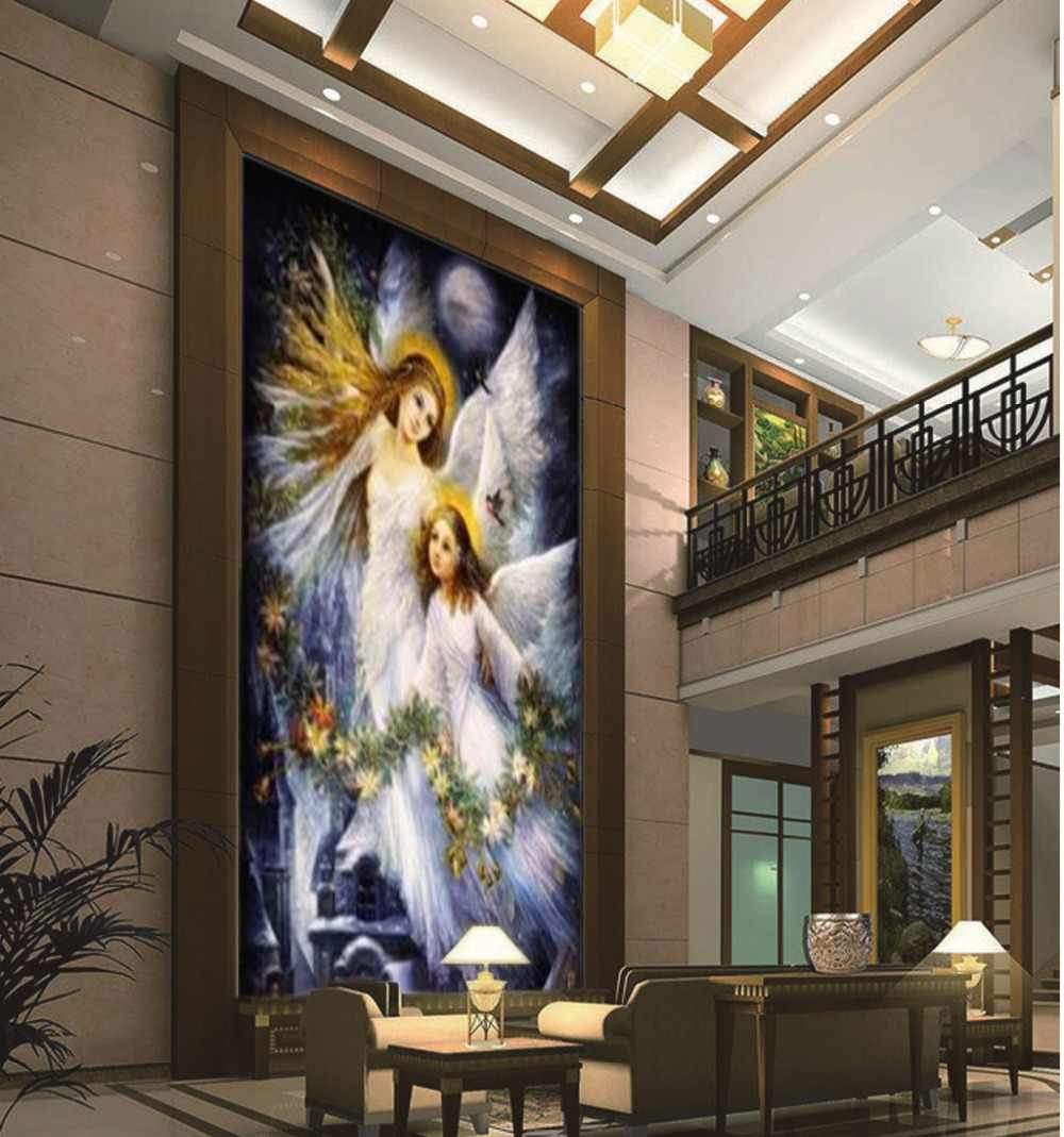. 3d Corridor Wallpaper Angels Of The Gospel Fairy Women HD Porch Wallpaper  Interior Decoration Beautiful And Practical Wallpaper
