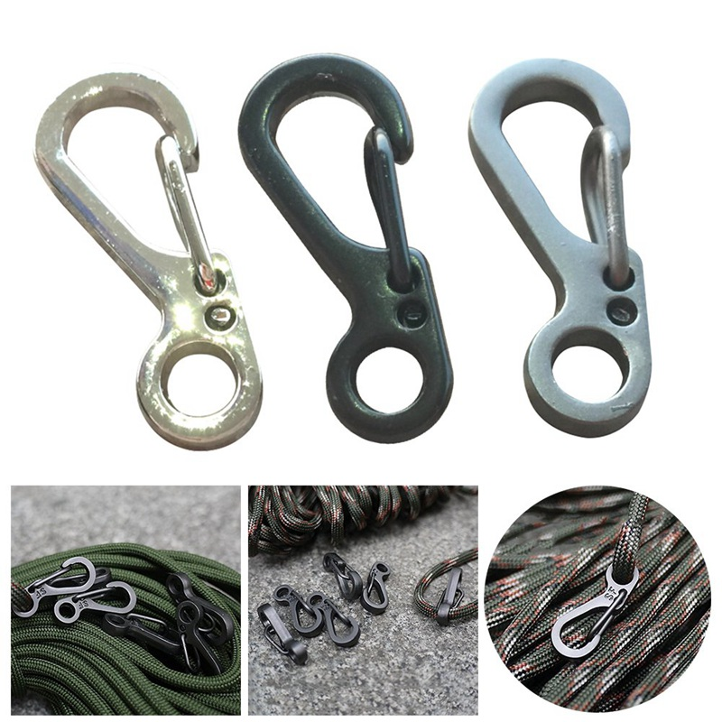 Aluminium Alloy Carabiner D-Ring Key Chain Clip Camping Keyring Snap Hook Outdoor Travel Kit Tool