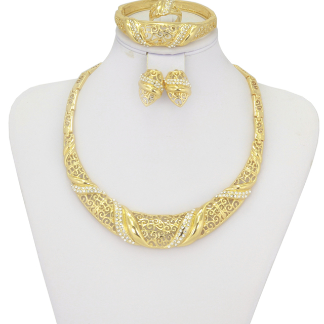 2017 new sale Circular Fashion Gold Plated Jewelry Sets Jewelry for