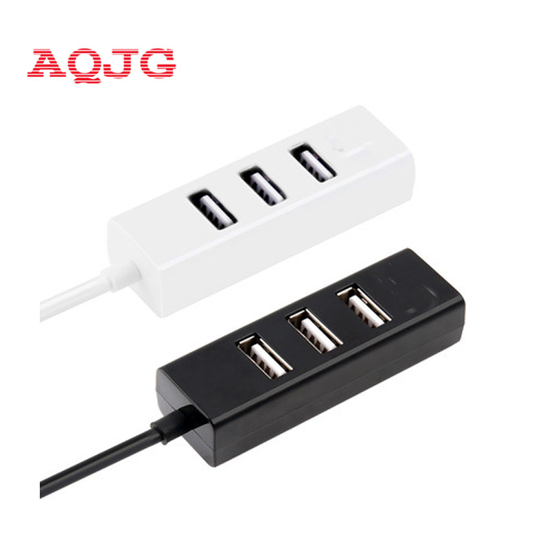 High Speed Mini Slim 4 Port hub usb hub 4 port Expander multiple Converter Adapter for Laptop PC Tabs USB HUB Black White AQJG