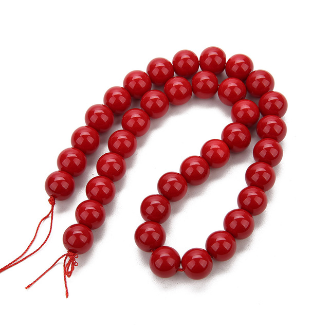1 Strand 6mm 8mm 10mm 12mm 14mm 16mm Round Natural Red Coral Stone Charm Beads for DIY Bracelets Jewelry Making Accessories