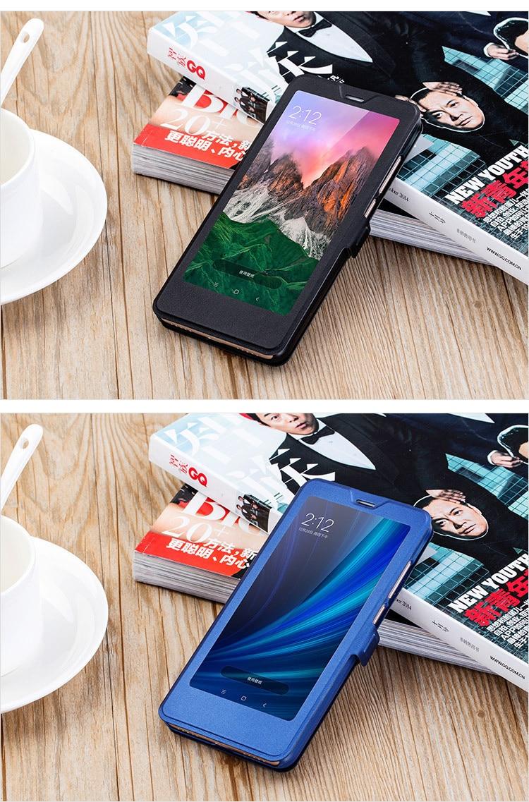 Smart window hard flip leather case for xiaomi redmi 5 plus 5a note 5 5a pro 6 6a 6 pro 12