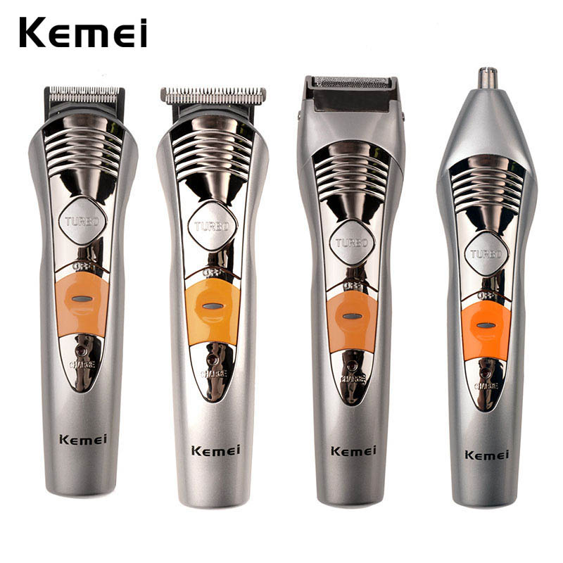 7 IN 1 Rechargeable Hair Trimmer Professional Hair Clipper for Men Electric Shaver Razor Nose Beard Trimmer Hair Cutting Machine kairui rechargeable dual blade shaver razor w trimmer ac 220v