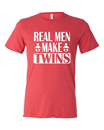t shirt for men adult real men make twins funny dad new
