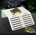 Turtle Pier Plataforma Basking Topper pasos de aterrizaje isla mini nano simple acuario tanque reptil solo estilo arcylic