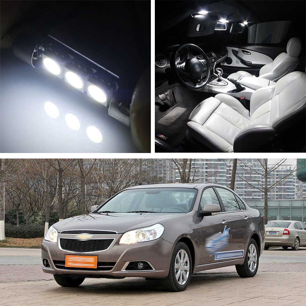Canbus LED Lamp Interior Map Dome Trunk Plate Light Bulbs For Chevrolet Epica