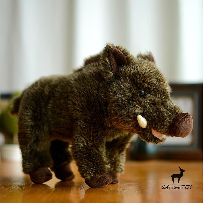 Stuffed Animal Toy Boar Doll Simulation Wild Cute Pig Dolls Plush Toys For Children Birthday Gifts simulation wildlife stuffed animal toys pelican doll toucan plush toy rare birds dolls gifts