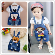 Baby Shorts Summer Baby Boys Trousers Children Pants 1-3 Years Litter Kids Denim Clothes Baby Jeans Overalls Boy One-piece