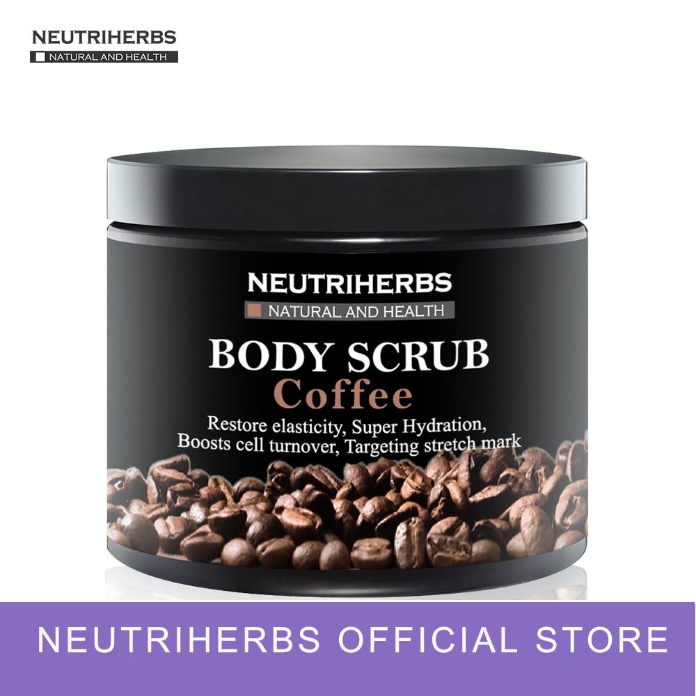 Neutriherbs Facial Body Coffee Scrub for Exfoliating Whitening Moisturizing Anti Cellulite Treatment Acne 200g майка print bar дата выпуска 1999