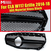 Fits For MercedesMB CLA-Class W117 Sport Grills CLA180 GLA200  GLA250 CLA45 ABS Black 1:1 Replacement Grille Without Sign 14-18