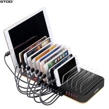 STOD 데스크탑 USB 충전기 스테이션 홀더 15 포트 80W 빠른 충전 아이폰 5S 6 6S 7 플러스 IPad 삼성 화웨이 LG 스탠드 어댑터