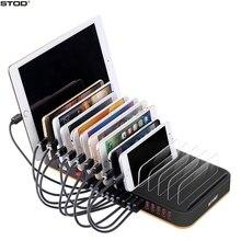 STOD masaüstü USB şarj istasyonu tutucu 15 Port 80W hızlı şarj IPhone 5S 6 6S 7 artı IPad Samsung Huawei LG standı adaptörü
