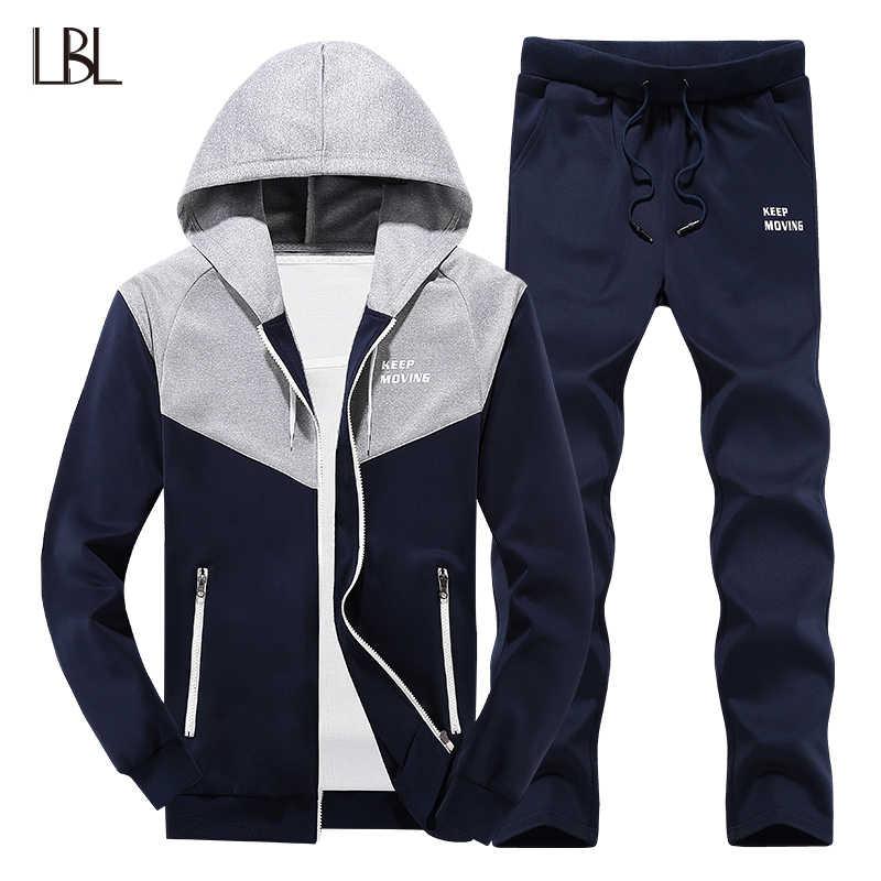 LBL для мужчин s спортивный костюм спортивная повседневное пот джоггеры 2  шт. толстовки Толстовка + 7f3904961ac
