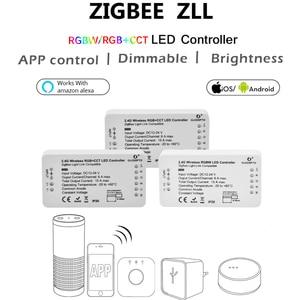 Image 2 - GLEDOPTO ZIGBEE ponte app Ha Condotto Il Regolatore RGBW dimmer Regolatore della striscia DC12/24 V comptible con LED echo zll standard LED