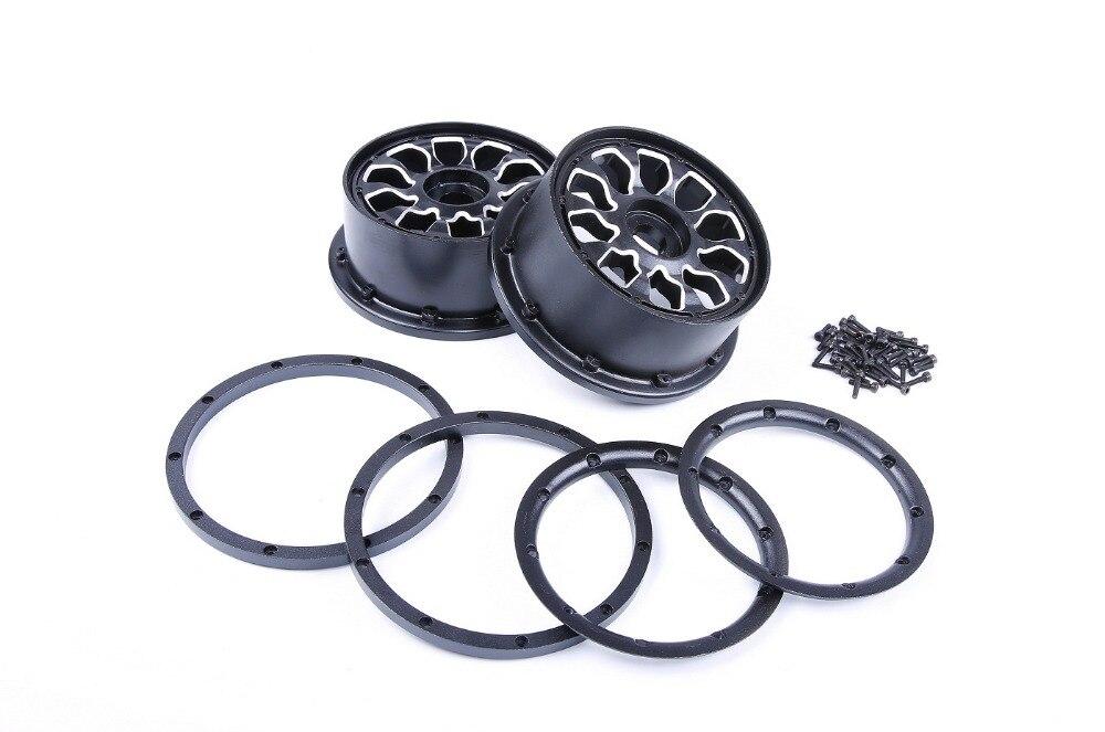 Kit de moyeu de roue en métal ROVAN LT et kit de jante pour pièces de voiture losi 5ive-T rc 1/5