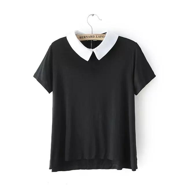 Women White Collar Shirt
