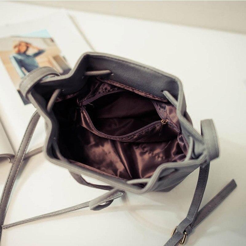 senhora Item Estilo : 2017 New Fashion Simple Women's Bucket Bags All-match Shoulder Bag