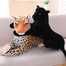 1pc 30-90cm High Quality Simulation Leopard Panther Plush Toy Lifelike Stuffed Animal Classic Toys Doll for Children Best Gift