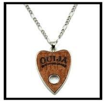 10Pcs Fashion Stainless Steel Wood Charms Ouija Jewelry Choker Chunky Vintage Bib Beads Chain Pendant Necklace Statement