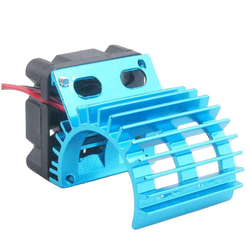New Motor Heat Sink Radiator With Cooling Fan for 1/10 HSP RC Car 380 390 Motor