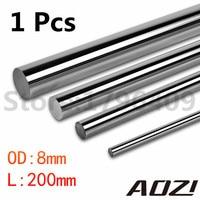 1 Pcs WCS Round Steel Rod Bar Cylinder Linear Rail OD-8MM L-200MM Cnc Linear Shaft Chrome