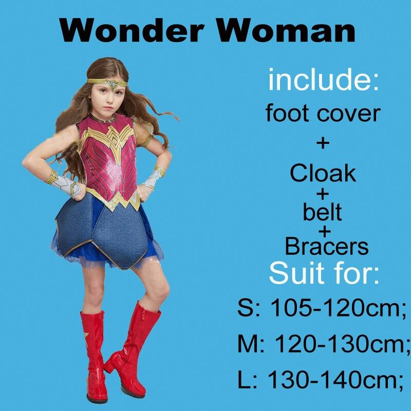 Purim Deluxe Wonder Woman Costume Cosplay Halloween Superhero Girls Child Dawn Of Justice Princess Diana Dress Up Suit (13)15