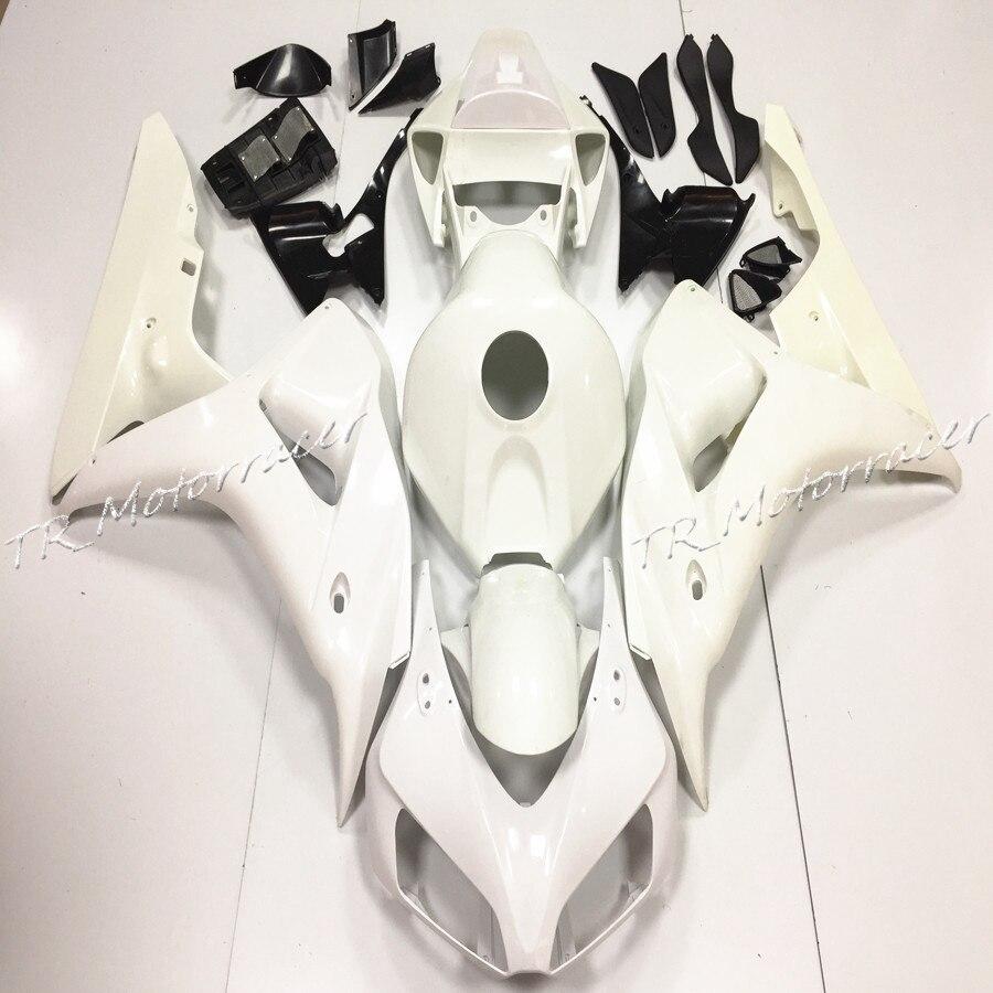 ABS Unpainted White Injection Fairing Bodywork Kit For Honda CBR1000RR 2006 2007 Motorcycle Accessories unpainted abs injection mold bodywork fairing kit for honda cbr1000rr 2006 2007