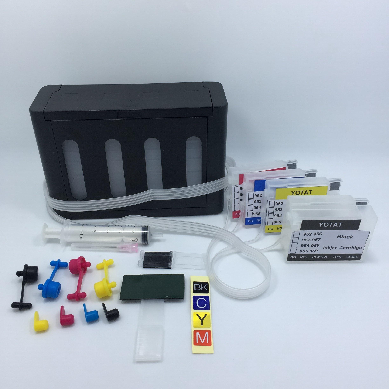 YOTAT (ARC chip) CISS 955XL ink cartridge for HP955 HP 955 for HP Officejet Pro 8216 8710 8720 8210 8702 8218 8715 8716 8717 hot sales ink cartridge for hp officejet pro 7740 8210 8216 8218 8710 compatible cartridge with bk c m y original cartridge