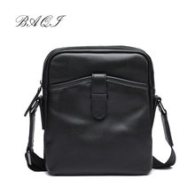 BAQI Brand Men's Crossbody Bag Handbags Men Messenger bag 2019 Fashion Designer Cow Leather High Quality Shoulder Bag Men Casual